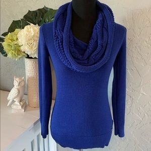 ✨MICHAEL KORS✨ Colbalt Blue Cowl Neck Sweater XS